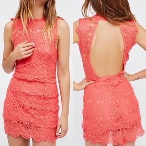 NWT Free People Intimately Daydreamer Lace Dress L